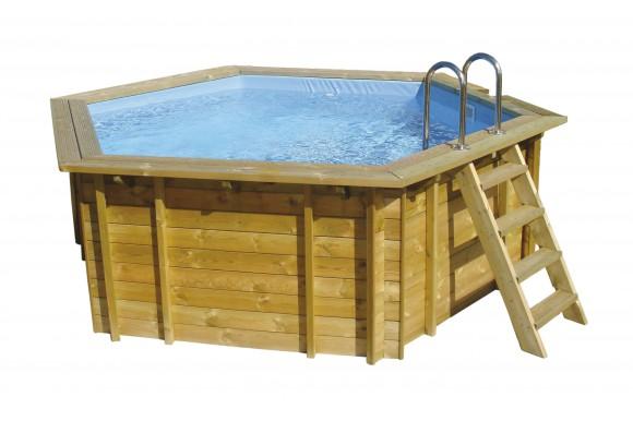 Piscine hors sol bois octogonale groupe abris et piscines - Liner piscine hors sol octogonale ...